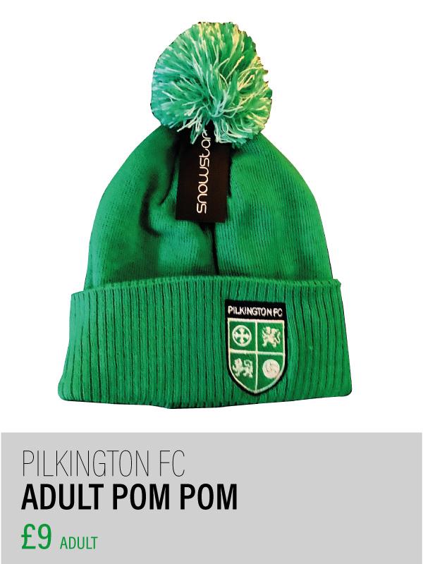 Adults green pom pom hat