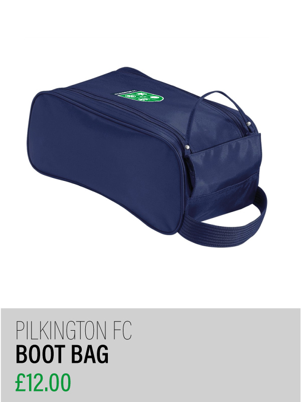 Navy boot bag with club crest
