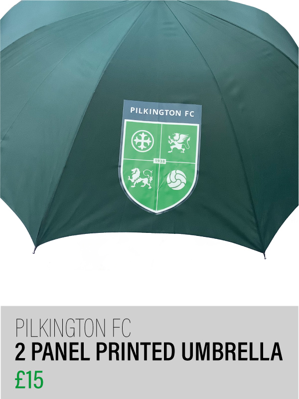 Green umbrella with 2 panel printed logo